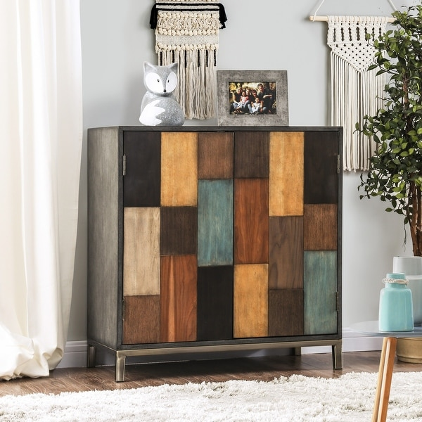 Furniture of America Sixi Contemporary Multi-color Accent Cabinet. Opens flyout.
