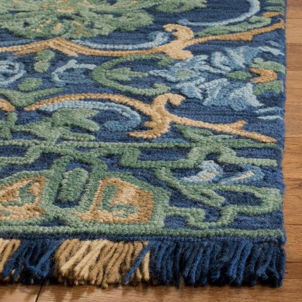 Safavieh Handmade Blossom Parthenia Modern Floral Wool Rug On Sale Overstock 17334019