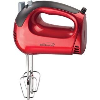 Brentwood Appliances - Hm-46 - 5 Spd Hand Mixer Red