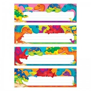 Dino-Mite Pals Desk Toppers Name Plates Variety Pack - Pack of 6