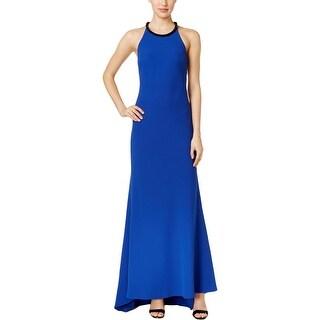 Calvin Klein Womens Formal Dress Embellished Halter