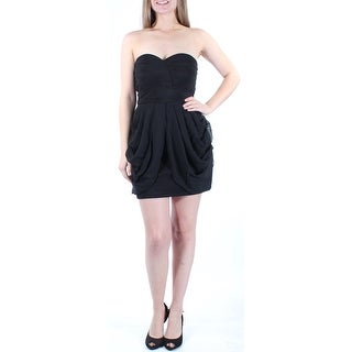 Womens Black Sleeveless Mini Body Con Cocktail Dress Size: 5