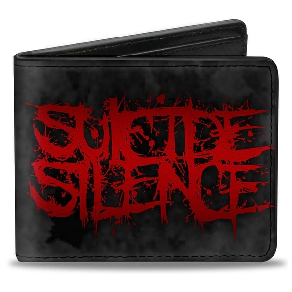 Suicide Silence Splatter Gray Red Bi Fold Wallet - One Size Fits most