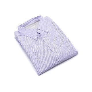 Brunello Cucinelli Mens Purple Slim Fit Button Down - xxl
