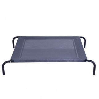 Costway Large Dog Cat Bed Elevated Pet Cot Camping Steel Frame Mat
