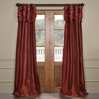 Exclusive Fabricsexclusive Fabrics Ruched Faux Solid Taffeta Curtain 50 X 108 Paprika Dailymail