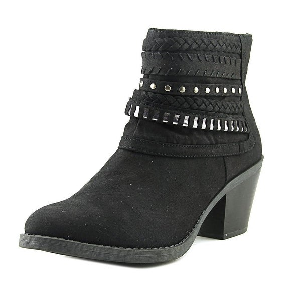 Sugar Tall Tale Women Round Toe Canvas Black Bootie