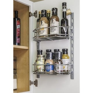 Hardware Resources DMS6-R 6 Inch Deep 11 Inch Tall Door Mounted Spice Rack Syste