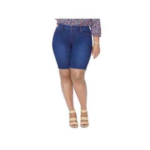 NYDJ Womens Plus Denim Shorts Denim Water Conscious - Cooper