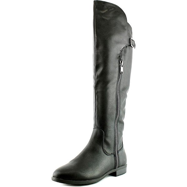 Rialto First Row Women Round Toe Synthetic Black Over the Knee Boot