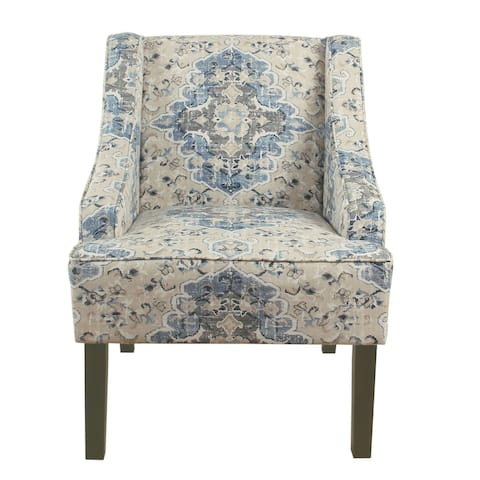 Porch & Den Holman Fabric Upholstered Swoop Armchair