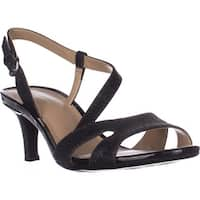 naturalizer Harmony Strappy Comfrot Sandals, Black Glitter