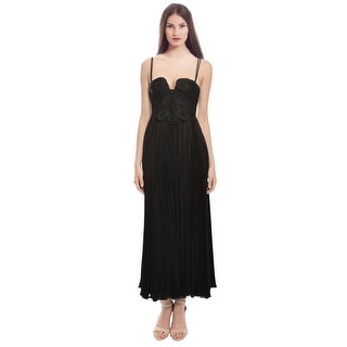 Emanuel Ungaro Spiraled Ribbon Pleated  Evening Gown Dress - 0