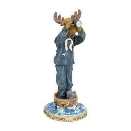 Boyds Moose Troop Collection Sir Francis Blackhoof with First Mate McMousen...Land Ho!