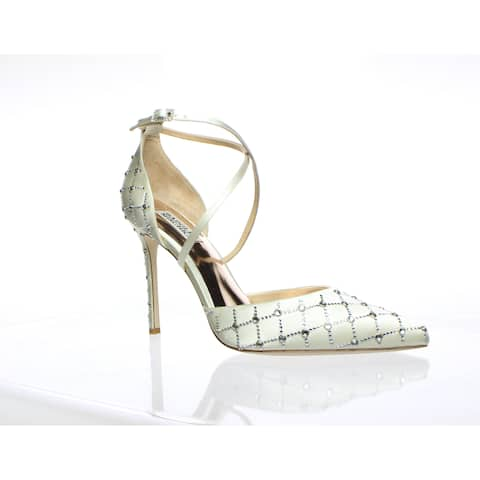 Badgley Mischka Womens Shiloh Ivory Pumps Size 8.5