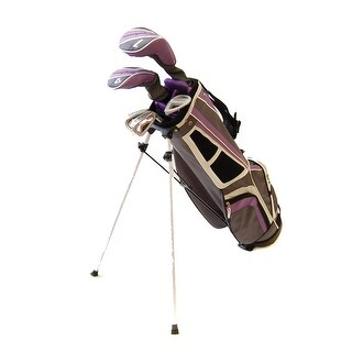 New Tommy Armour Girls' Hot Scot 8pc Complete Junior Golf Set + Stand Bag RH - purple / white / gray
