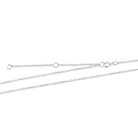 Handmade Versatile 1.5 mm Sterling Silver Cable Chain Necklace (Thailand)