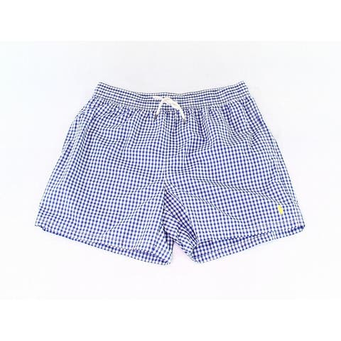Polo Ralph Lauren Mens Swimwear Blue Size 2XL Gingham-Check Trunks
