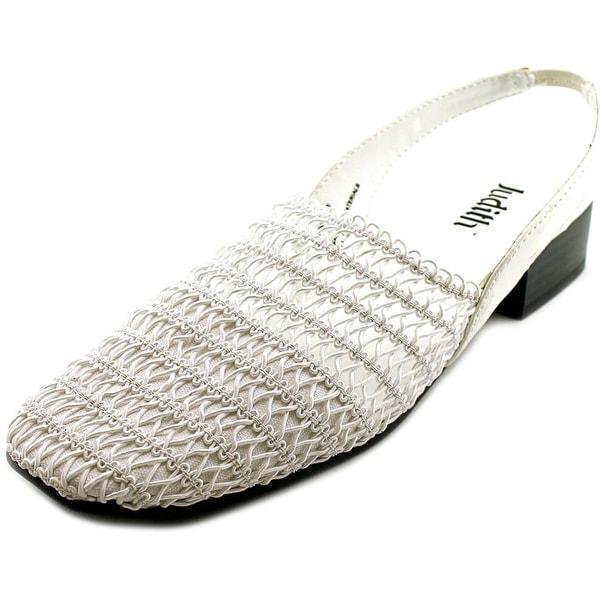 Judith Bayside Women Round Toe Canvas White Slingback Heel