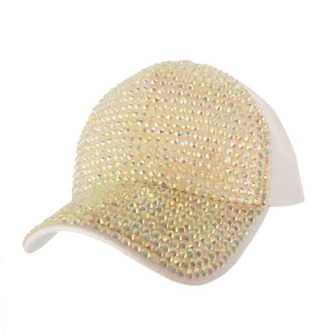 Top Headwear Two Tone Shiny Stone Denim Baseball Cap