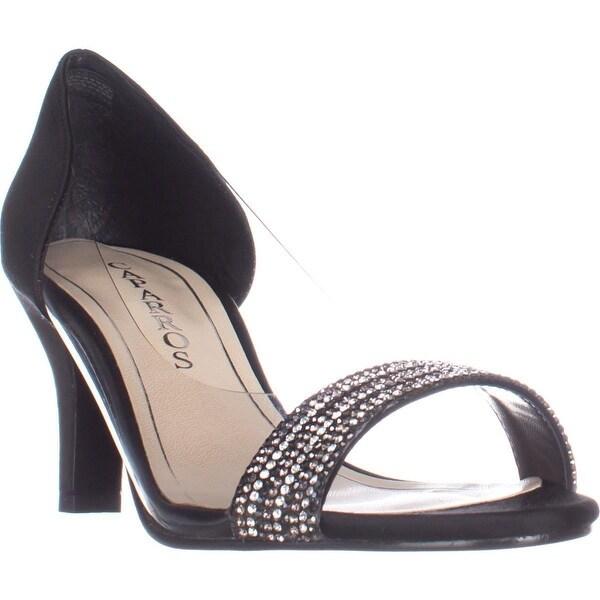 Caparros Fancy Peep-Toe Embellished Evening Pumps, Black