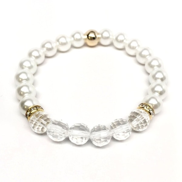Pearl & Crystal Glow Stretch Bracelet