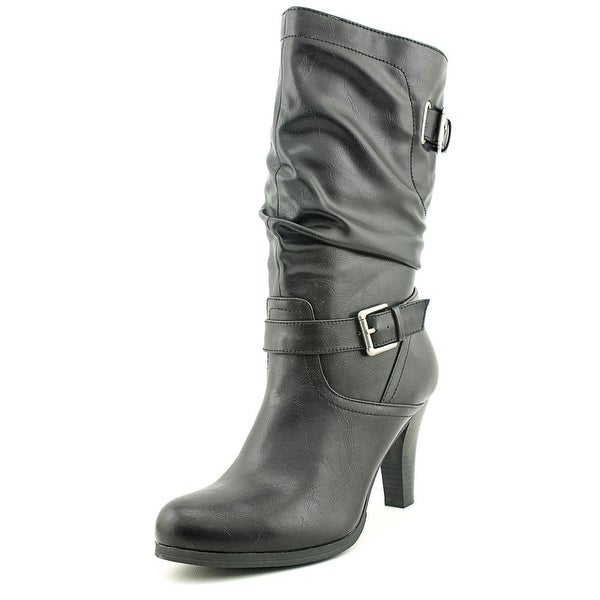Style & Co Amorie Round Toe Synthetic Mid Calf Boot