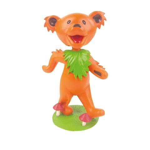 "Kollectico Grateful Dead Bobblehead - Orange Dancing Bear, 5"" Officially Licensed Collectible Bobble Head"