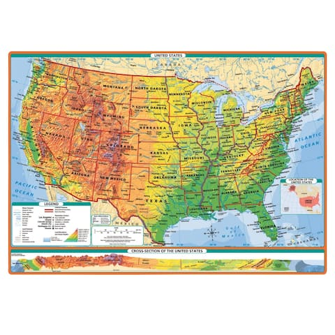 Rand McNally Physical-Political United States and World Desk Maps, Set of 30
