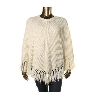 LRL Lauren Jeans Co. Womens Wool Knit Poncho Sweater