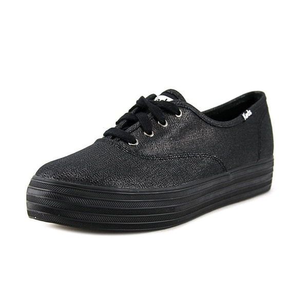 Keds Triple Deck Women Round Toe Canvas Black Sneakers