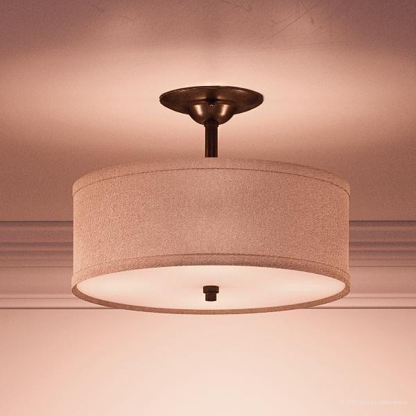 Luxury Modern Farmhouse Semi Flush Ceiling Light 12 H X 17 W
