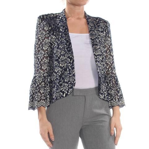 JESSICA HOWARD Womens Navy Embellished Evening Jacket Size 20W