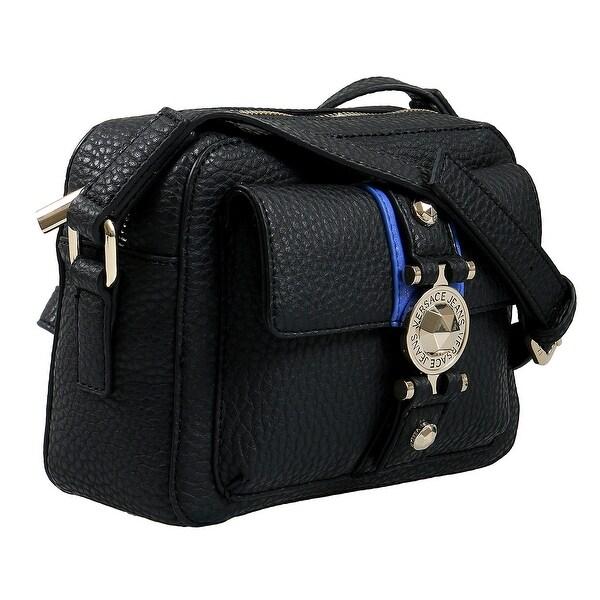 Shop Versace EE1VSBBF1 EMAG 899+202 Black Blue Shoulder Bag - 8-6.25 ... c2bf290603c25