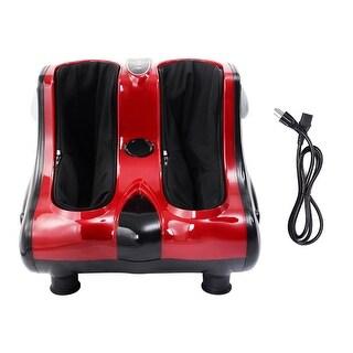 Costway Shiatsu Kneading Rolling Vibration Heating Foot Calf Leg Massager - Red
