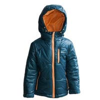 Oakiwear Kid's Winter Dark Blue/Orange Size 8/9 Puffy Jacket