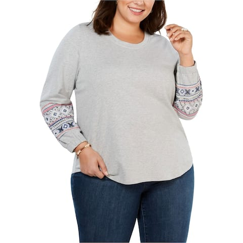 Style & Co. Womens Alpine Twist Sweatshirt