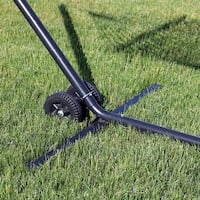 Sunnydaze Durable Plastic and Metal Removable Hammock Stand Wheel Kit Accessory