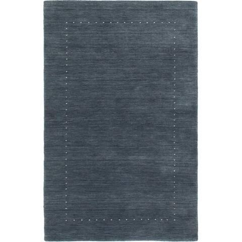 ECARPETGALLERY Hand-knotted Kashkuli Gabbeh Dark Grey Wool Rug - 2'10 x 5'1