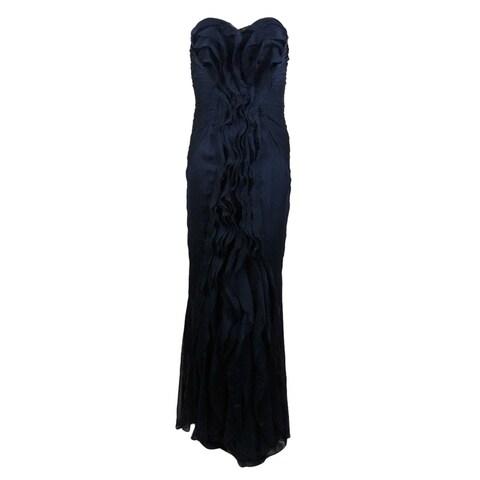 Adrianna Papell Women's Ruffled Strapless Chiffon Dress