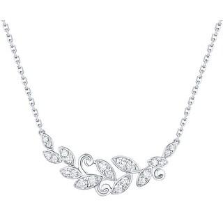 Prism Jewel 0.27Ct G-H/I1 Natural Diamond Olive leaf Necklace