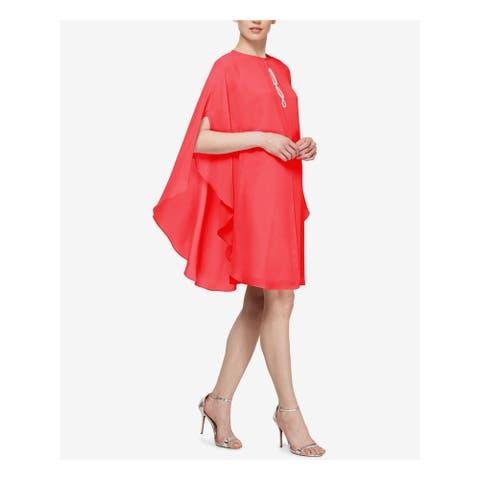 SLNY Coral Kimono Sleeve Above The Knee Shift Dress Size 4