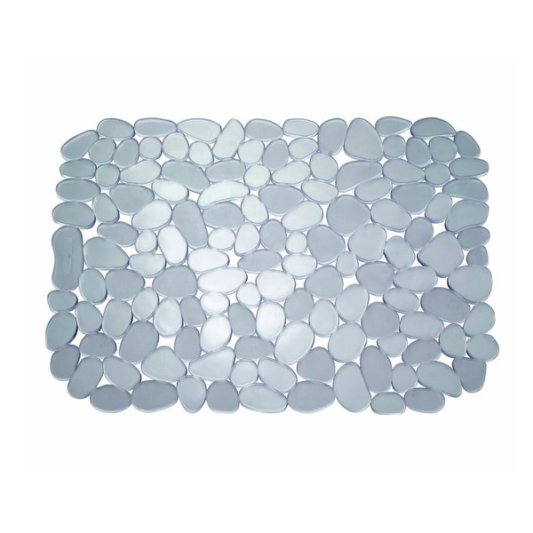 "InterDesign 60663 Pebble Sink Mat, 12"" x 15.5"", Gray"