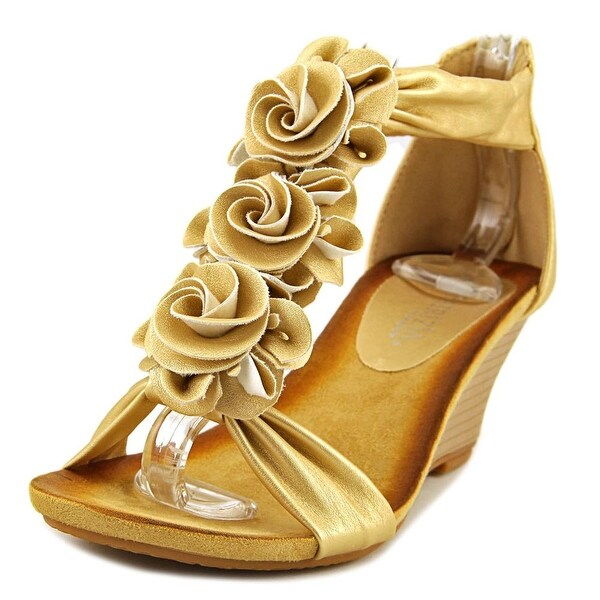 Patrizia By Spring Step Harlequin Women Gold Sandals