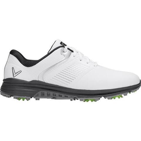 Callaway Men's Solana TRX Waterproof Golf Shoe White Microfiber Leather