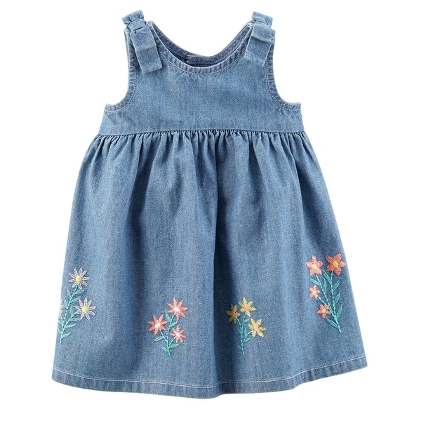 4d90d967c Shop Carter's Baby Girls' Embroidered Chambray Dress - Free Shipping On  Orders Over $45 - Overstock - 25614238