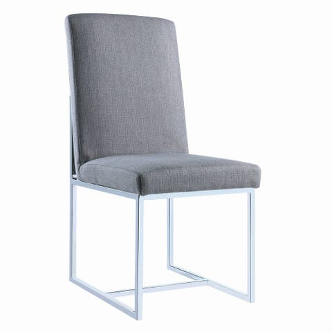 Warren Modern Cube Base Dining Chairs (Set of 2)