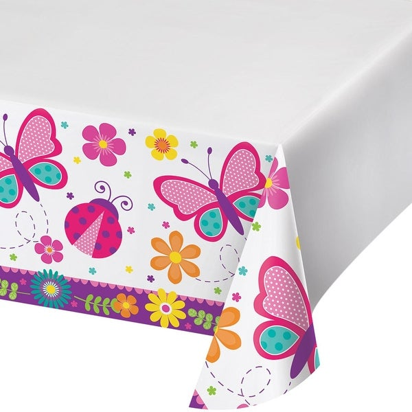 Shop Set Of 12 Multicolored Butterfly Garden Printed Plastic Table