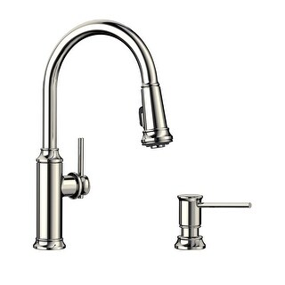 """Link to Blanco KF-442502 Empressa Pull-Down Kitchen Faucet with Soap Dispenser - 2"""" x 9"""" x 16.38"""" Similar Items in Faucets"""