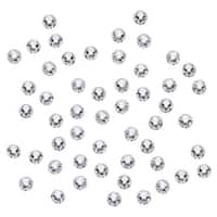 Swarovski Elements Crystal, Round Flatback Rhinestone SS9 2.5mm, 72 Pieces, Crystal Foiled